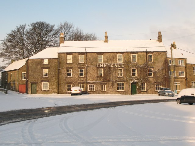 The Dale Hotel under snow