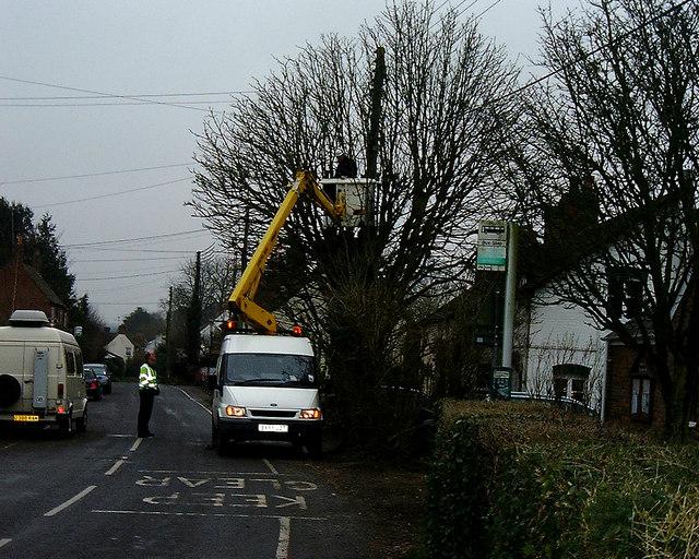 Barton Stacey -  BT repairing a phone line