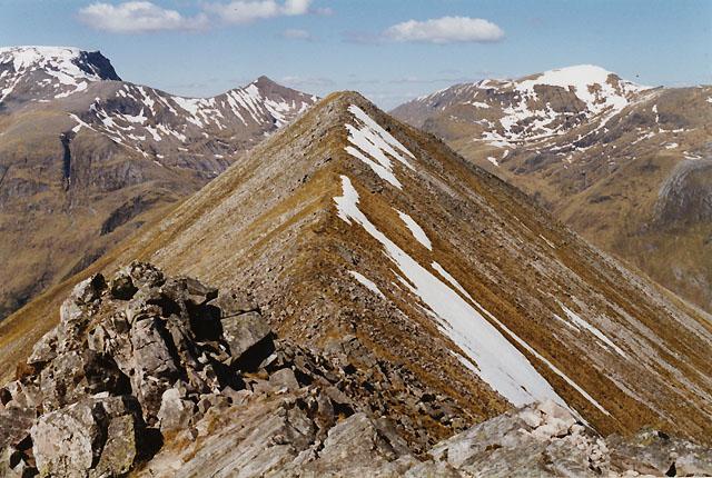 The summit of An Gearanach