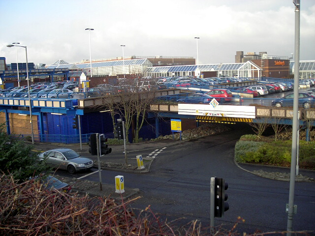 Car Park Entrance at East Kilbride Shopping Centre