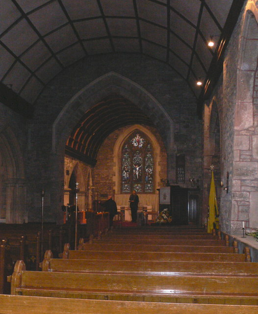 Interior of St Cadog's Church, Raglan
