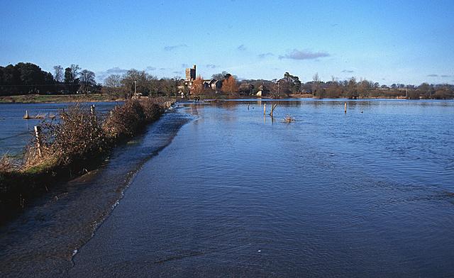 The Avon Flood Plain in Winter, near Ibsley Bridge