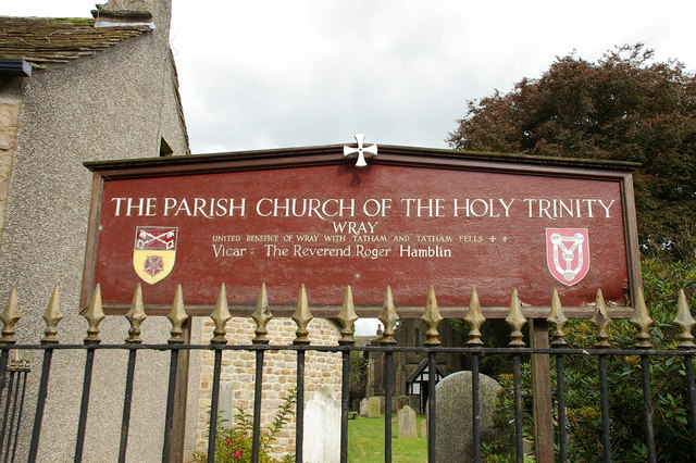 The Parish Church of the Holy Trinity, Wray, Sign