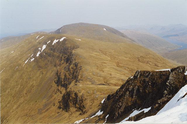 View east northeast from Beinn Achaladair