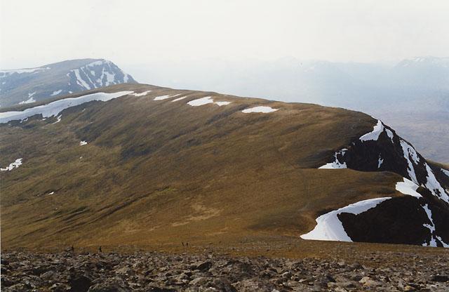View west from Beinn a' Chreachain