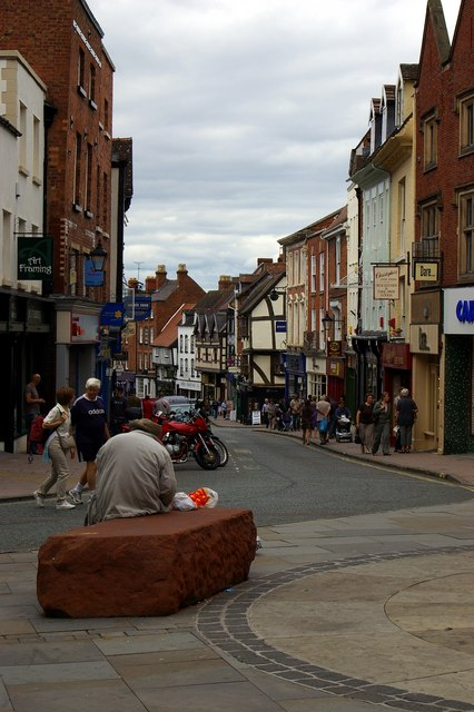 Looking down Mardol, Shrewsbury