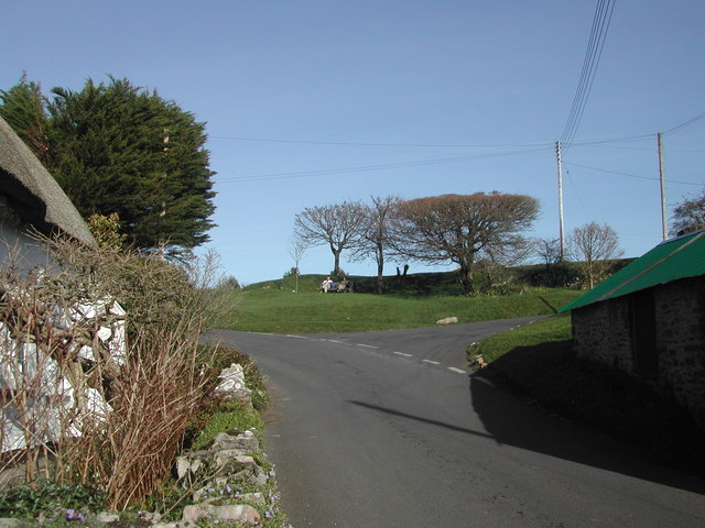Ogwell Green from East Ogwell village