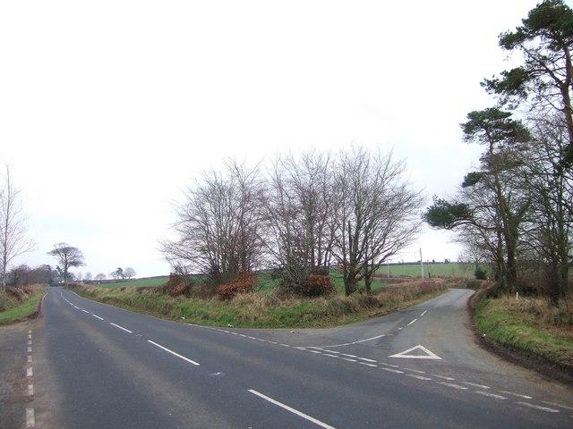 Road junction east of Great Torrington