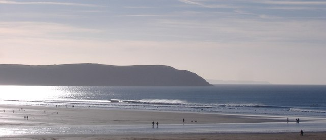 Baggy Point from Woolacombe Beach