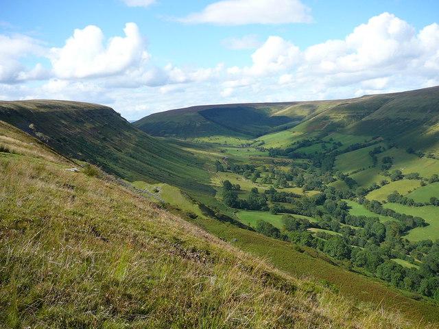 Eastern escarpment of Darren Lwyd