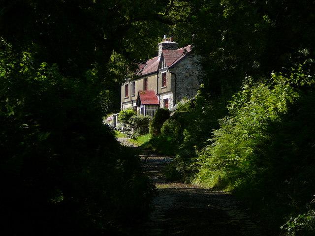 Cottage in a dark lane