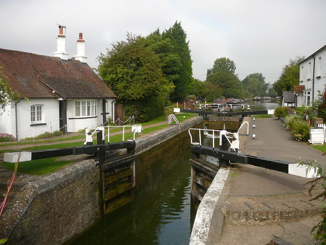 Lock at Cow Roast, Grand Union Canal
