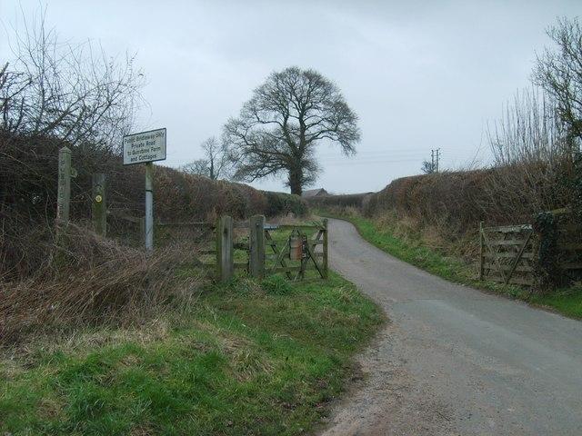 Staffordshire Way at Gunstone