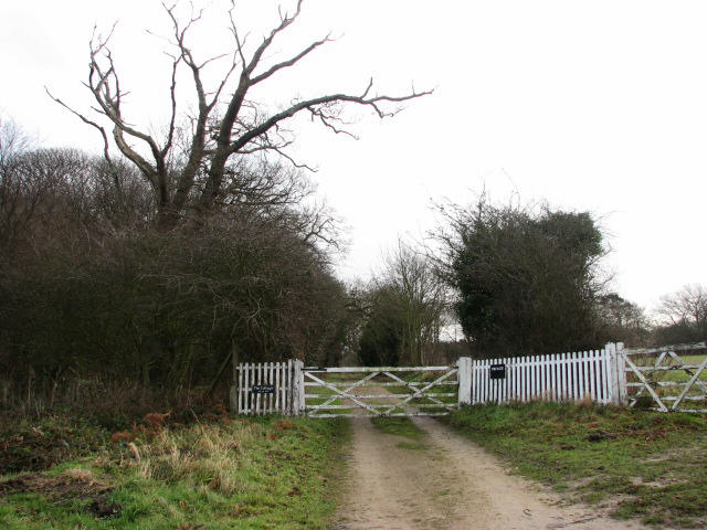 Private road to Witton Hall