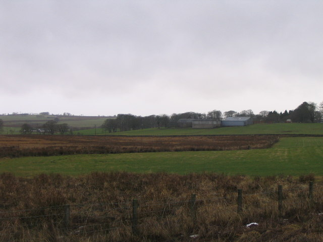 Easterseat Farm, from the track to the Spingfield Fishery