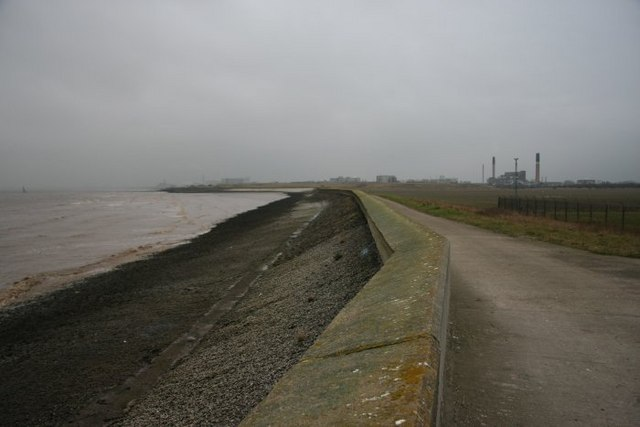 Sea defences along the Humber