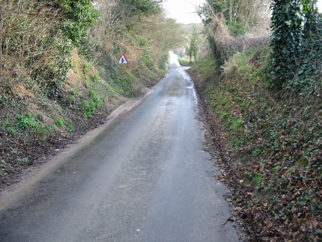 Country lane near junction with Pike Road