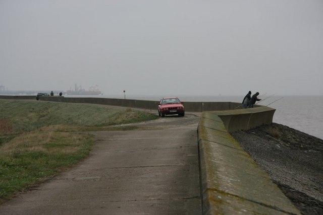 Sea defences along the Humber