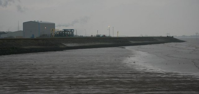 Sea Wall on the River Humber