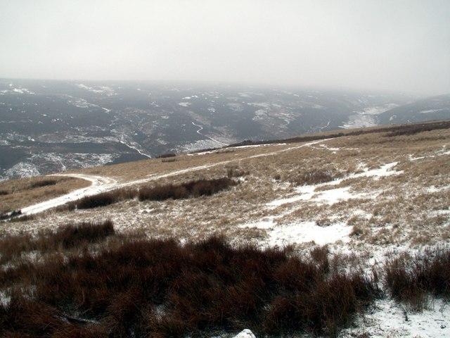 Upper Hordron looking to Harden Moor