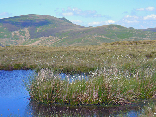 A small tarn on the ridge south east of Post Gwyn