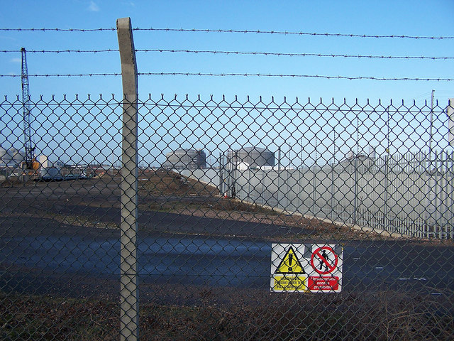 LNG pipeline and storage tanks, Isle of Grain