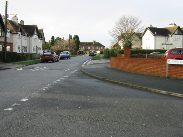 View along Milner Road from junction with St John's Road