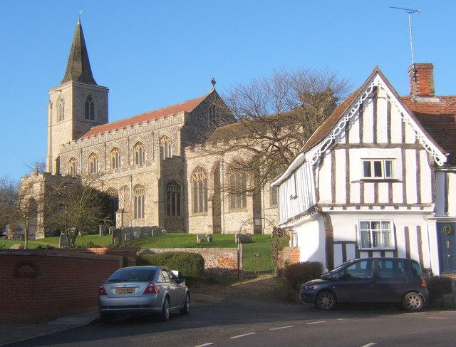 Rattlesden church and village street