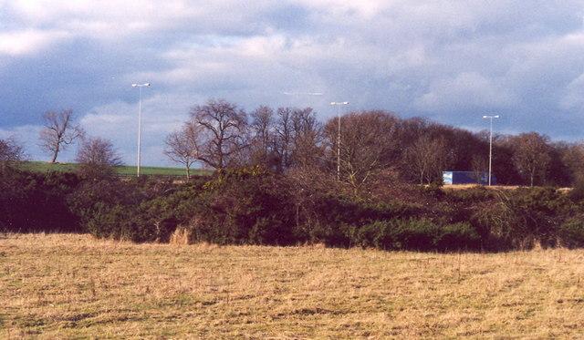 Motorway crosses route of roman road