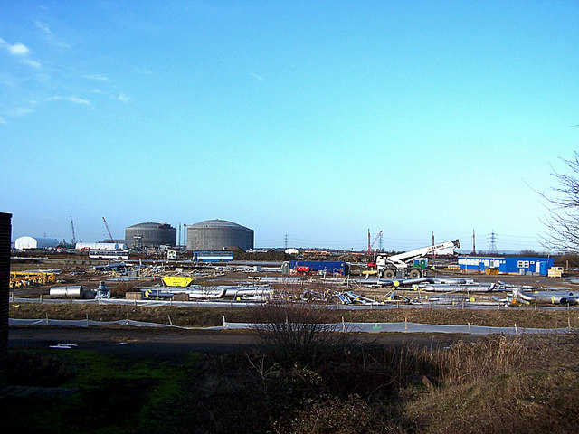 Industrial building site, Isle of Grain