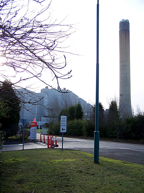 Entrance to Grain power station