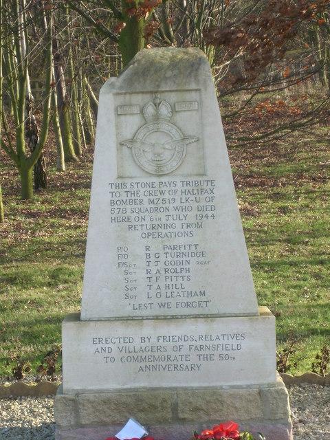Halifax bomber memorial