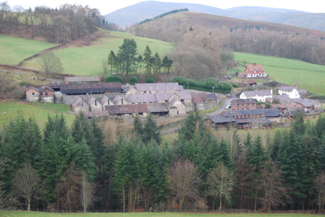 Farm steading at  Bryn-newydd