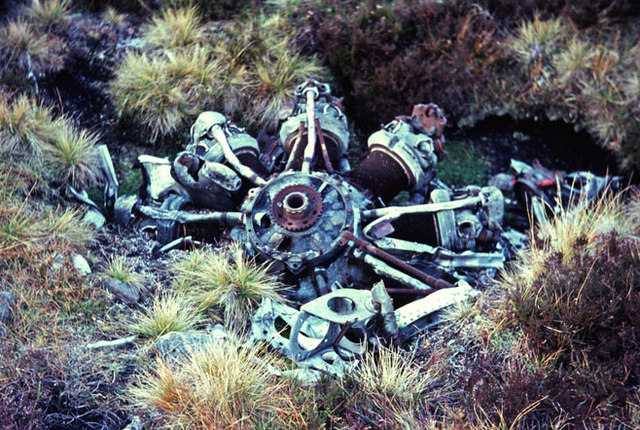 Radial engine from WW2 plane crash