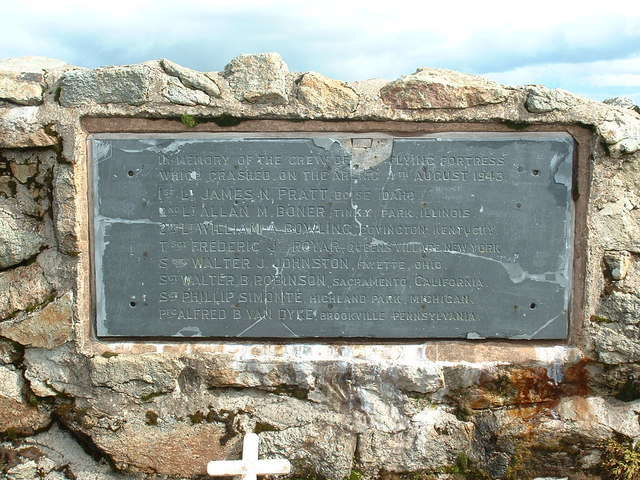 Flying Fortress memorial plaque