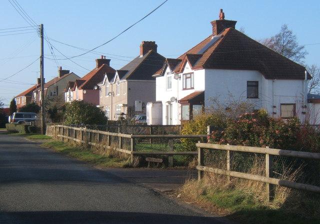 Row of houses near Rattlesden