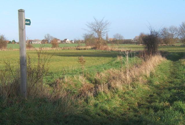 Start of footpath near Brook Farm