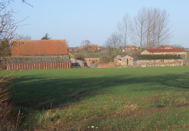 Farm outbuildings east of Brook Farm