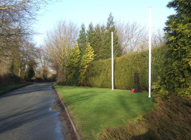 Setting of roadside memorial near Rattlesden Airfield