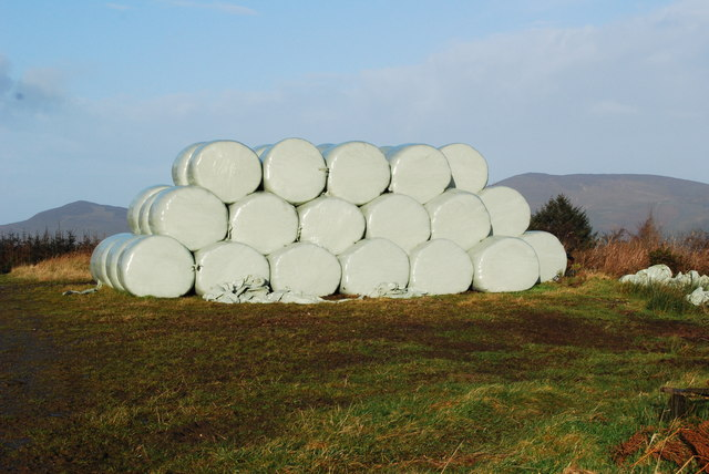 Well stored haylage bales