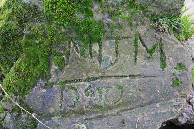 Inscription, Packhorse Bridge, Newsholme Dean