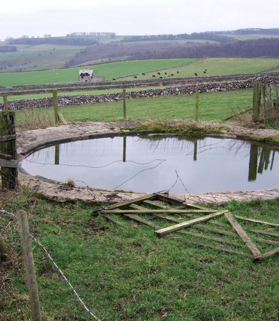 Barbed wired dewpond