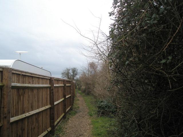 Footpath alongside Southbourne Farm Shop