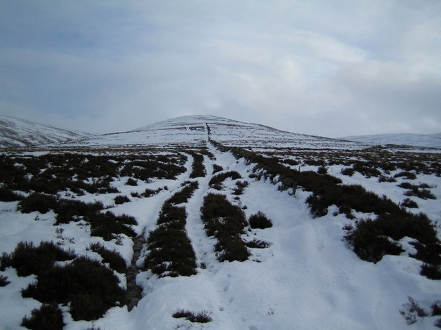 Track up the ridge leading to Cairn Hillock