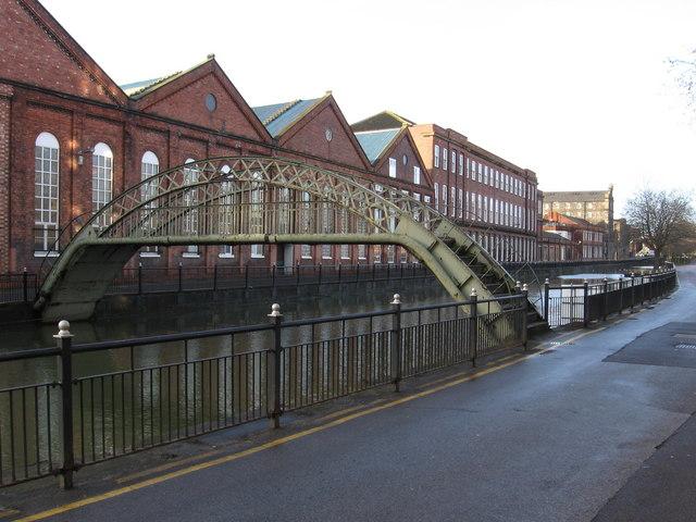 Lincoln - footbridge near Stamp End