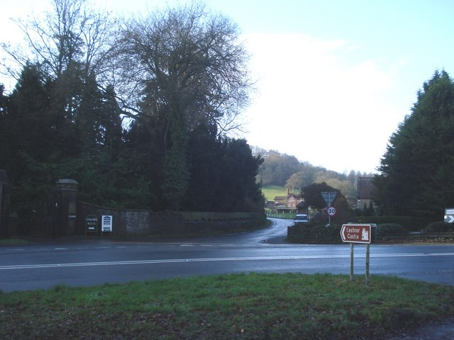 Road junction to Eastnor Castle