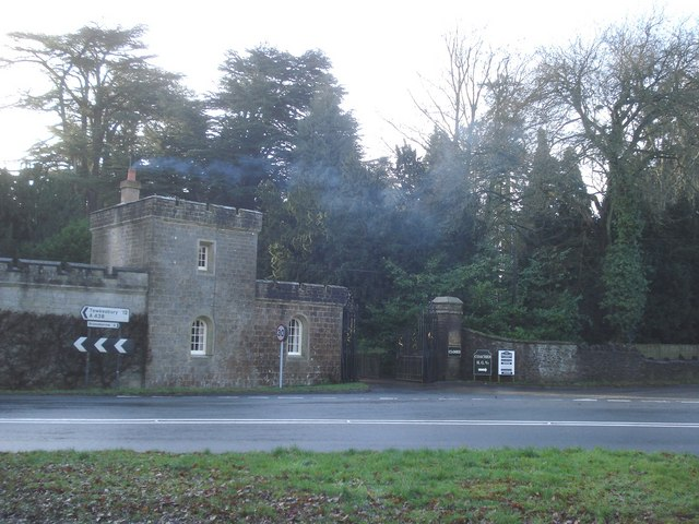 Entrance and gatehouse at Eastnor Castle