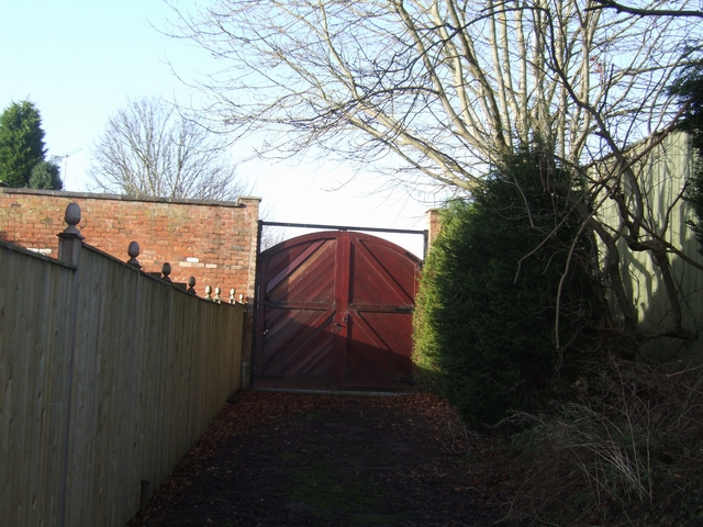 Boundary wall and gateway to Perton Grange
