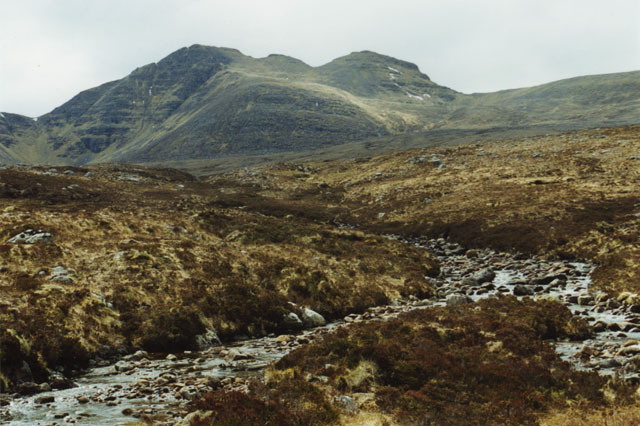 Dividing of the waters north of Loch na h-Oidhche