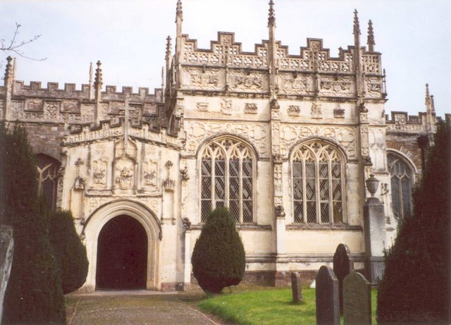 Detail of the south front of St Peter's Church, Tiverton